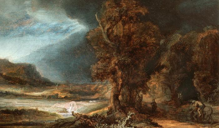 Rembrandt. Krajobraz z miłosiernym Samarytaninem |  wystawa stała