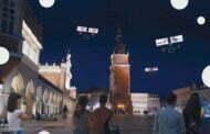 Krzysztof Wodiczko. Niebo nad Krakowem. LGBT mówi | Dronowy pokaz na Rynku Głównym